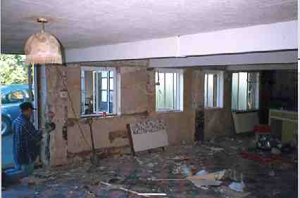 Stripping out the main classroom